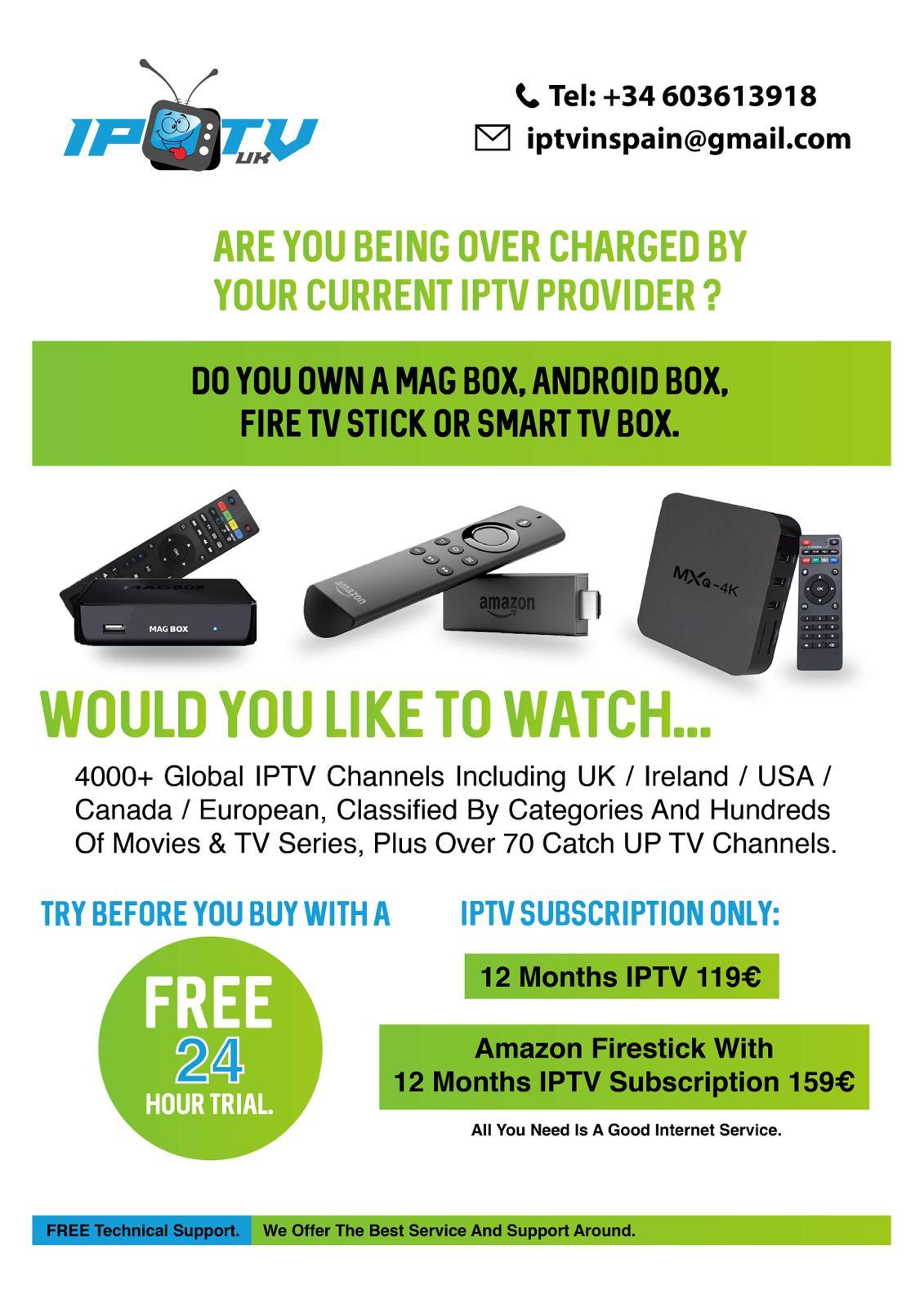 IPTV UK in Vera Playa: address, telephone number and opening
