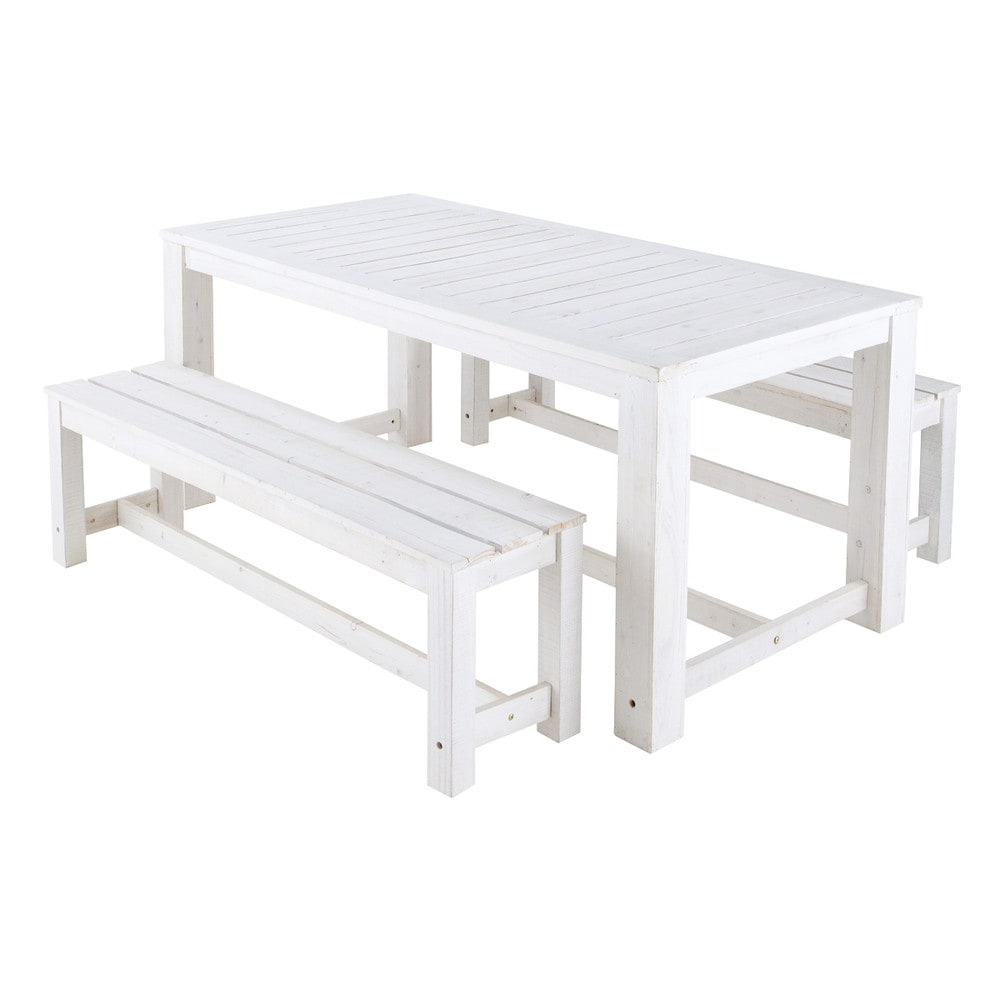 Fabulous For Sale Brand New White Wooden Outdoor Table And Two Uwap Interior Chair Design Uwaporg