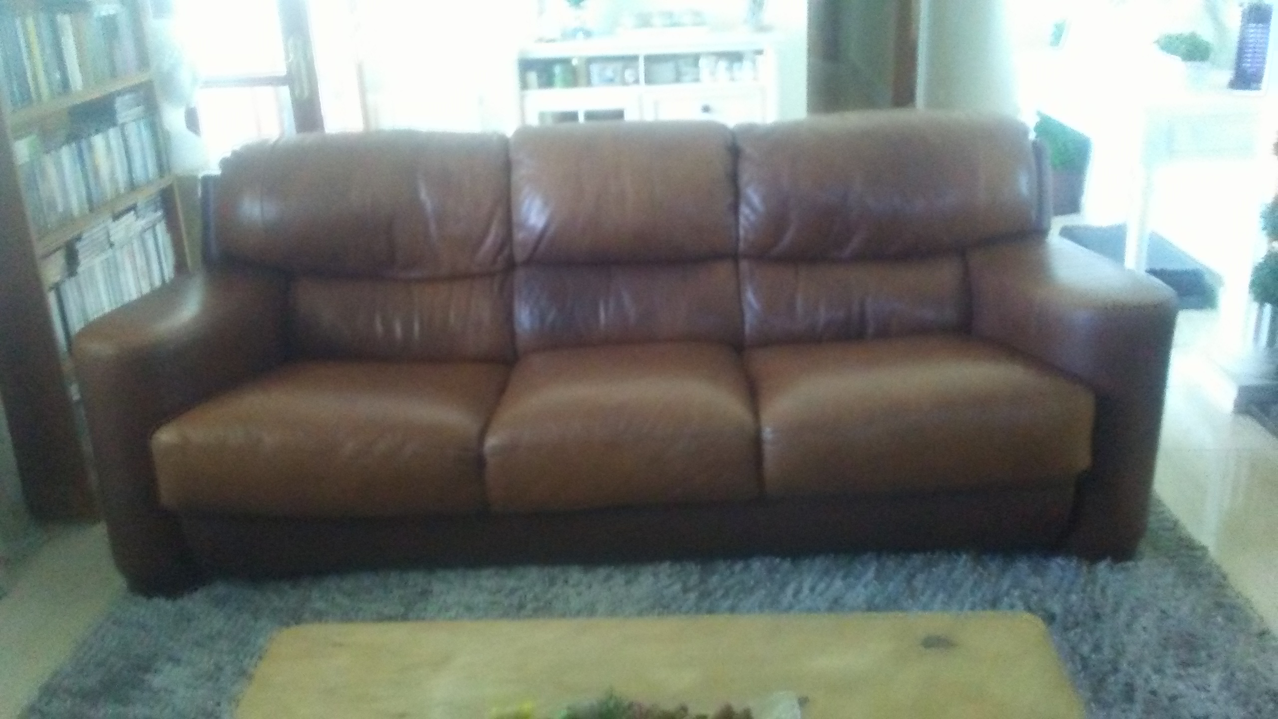 Fabulous For Sale Large Comfortable Brown Leather Sofa Now Reduced Pdpeps Interior Chair Design Pdpepsorg