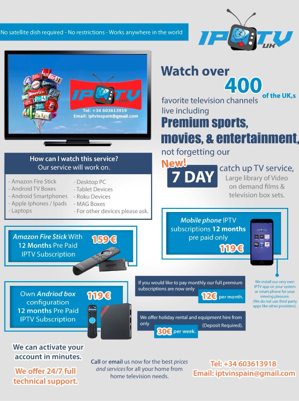IPTV box - Broadband Internet, Wifi, Phone and TV in