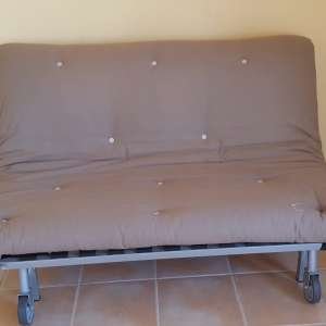 For sale: Double futon style sofa bed - €140