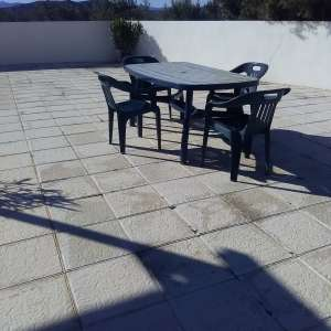 For sale: Outside Heavy Duty Plastic Table and 4 chairs - €25
