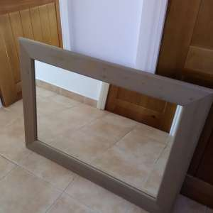 For sale: Mirror with solid wood frame - €35