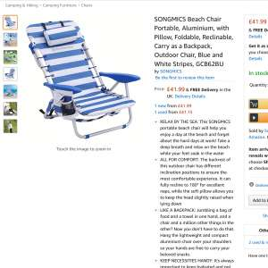 Where can I buy a 5 position lay flat folding beach chair\sunbed