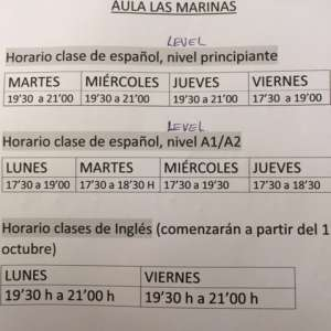 Spanish Lessons in Roquetas de Mar and Las Marinas