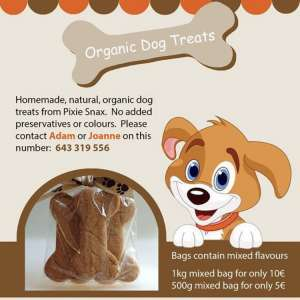 Pixie Snax homemade organic dog treats
