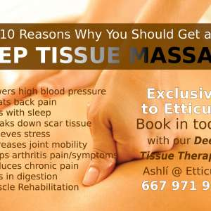 The benefits of deep tissue massage